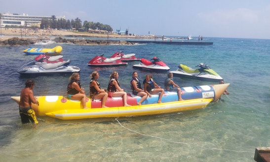 Enjoy Banana Boat Rides In Paphos, Cyprus