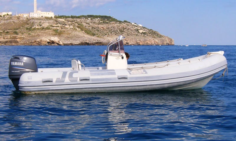 Rent 20' Joker 19 Rigid Inflatable Boat in Santa Maria di Leuca, Puglia
