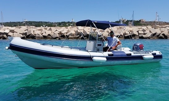 Rent 21' Clubman 21 Rigid Inflatable Boat In Santa Maria Di Leuca, Puglia