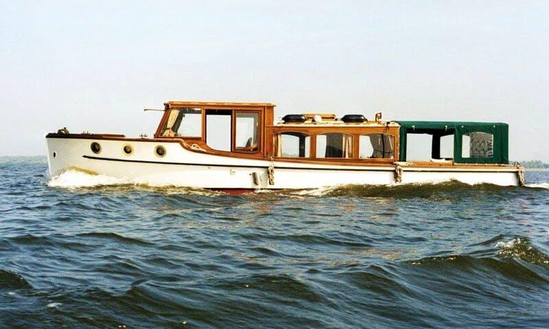 """37ft """"Dora Maar"""" Canal Boat Charter in Berlin, Germany"""