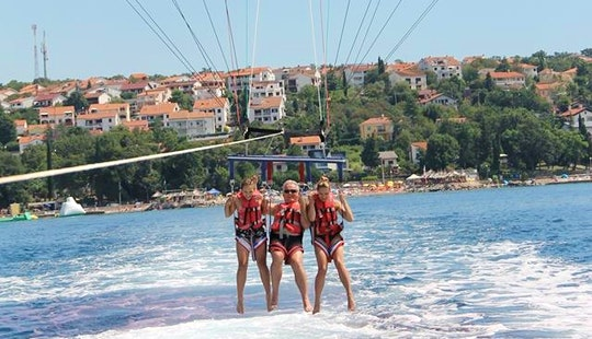 Enjoy Parasailing In Njivice, Croatia