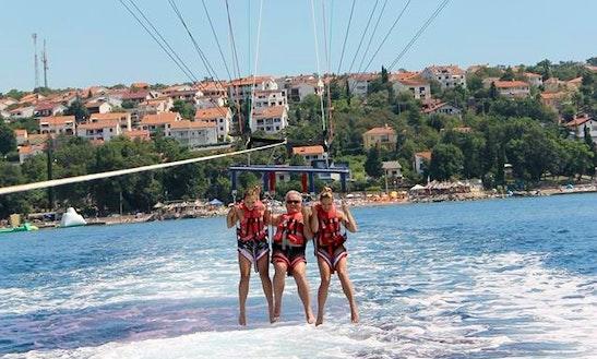 Enjoy Parasailing In Njivice, Croatia