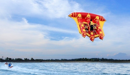 Enjoy Flying Fish Rides In Nusa Dua, Bali, Indonesia