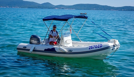 Rent 19' Wav Marine 520 Rigid Inflatable Boat In Bibinje, Zadar