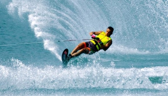 Enjoy Water Skiing In Nusa Dua, Bali, Indonesia