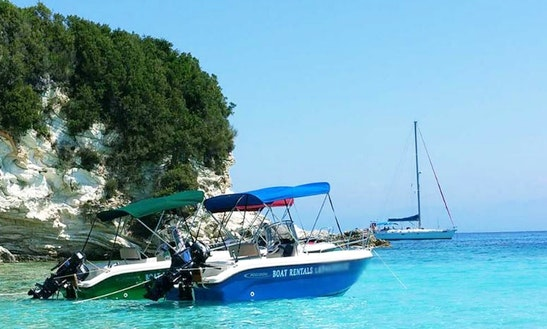 Rent The 16' Posiedon Blu Water Power Boat In Parga