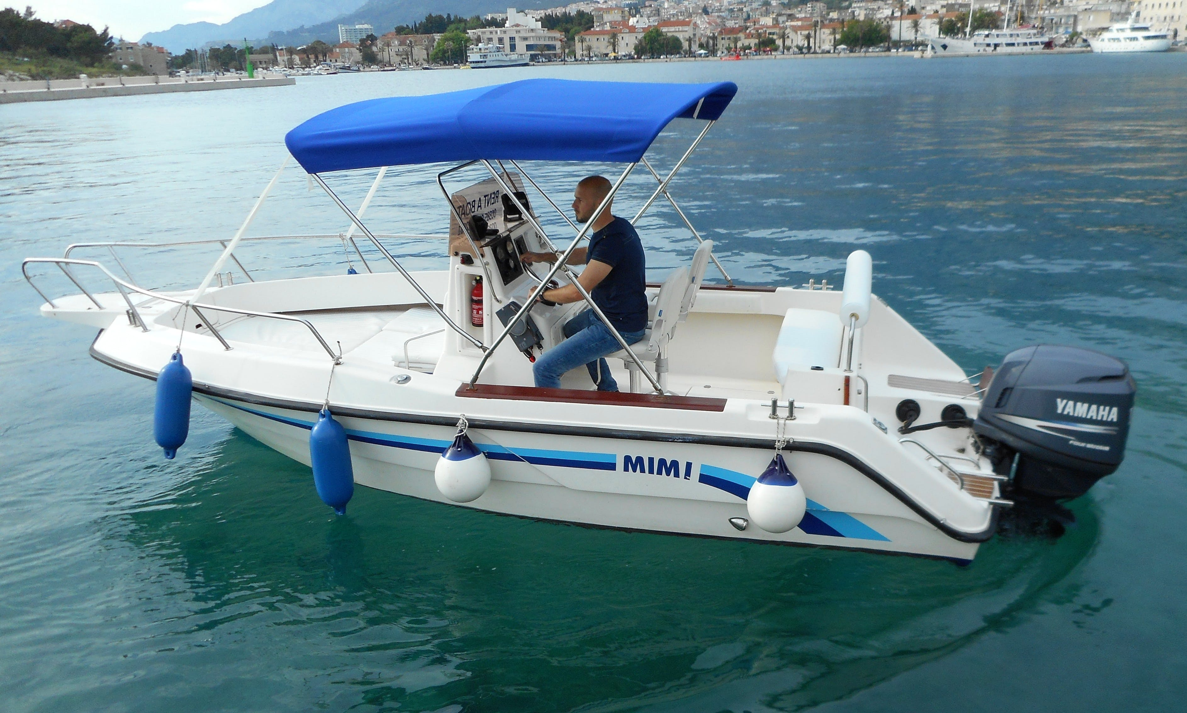 Covered Deck Boat rental in Makarska