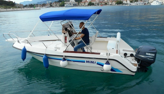 Covered Deck Boat Rental In Makarska