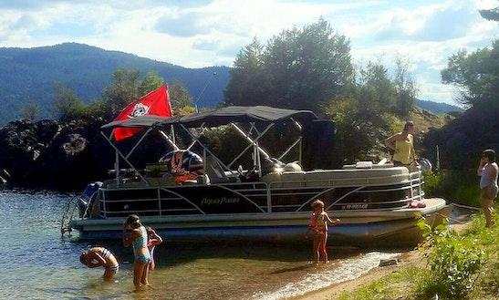 2015 Aqua Patio Pontoon Boat Rental In Downtown Sandpoint