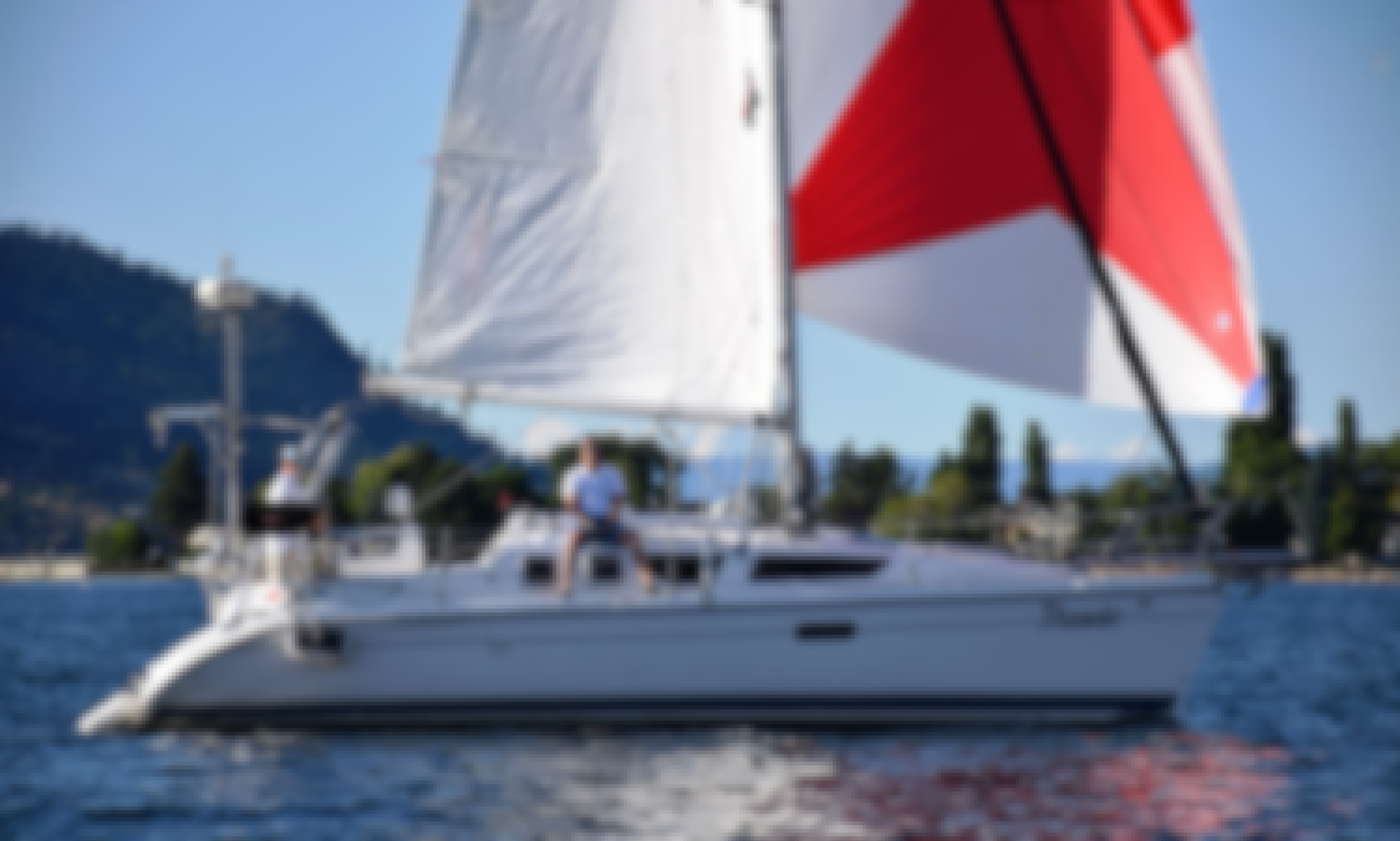 Captained Charter on Luxury Sailboat Hunter Marine 320 in Kelowna, BC