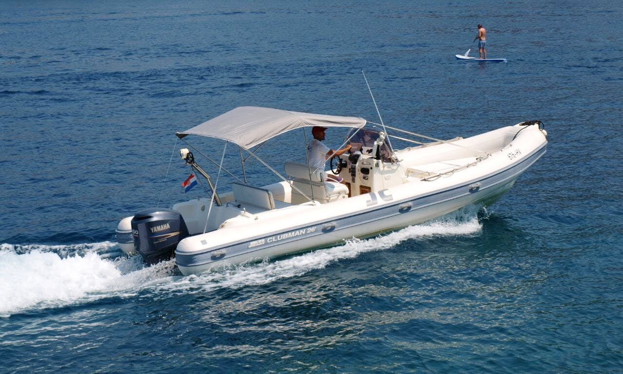 Rent 28' Joker Clubman 300hp Rigid Inflatable Boat in Hvar, Croatia
