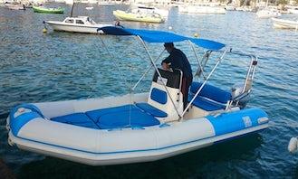 Rent 16' Zodiac Medline 50hp Rigid Inflatable Boat in Hvar, Croatia