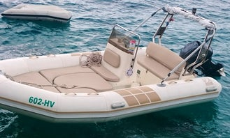 Rent 16' Zodiac Medline 60hp Rigid Inflatable Boat in Hvar, Croatia