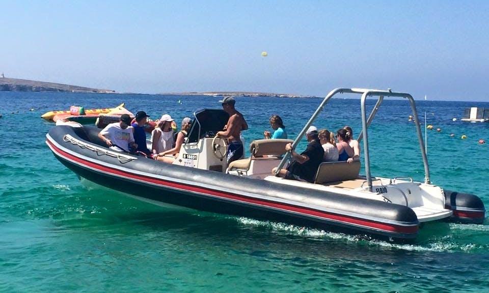 Charter a Rigid Inflatable Boat in San Pawl il-Baħar, Malta
