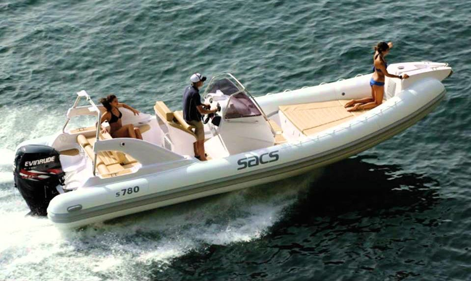 Rent 23' Sacs Ghost Rigid Inflatable Boat in Opatija, Croatia