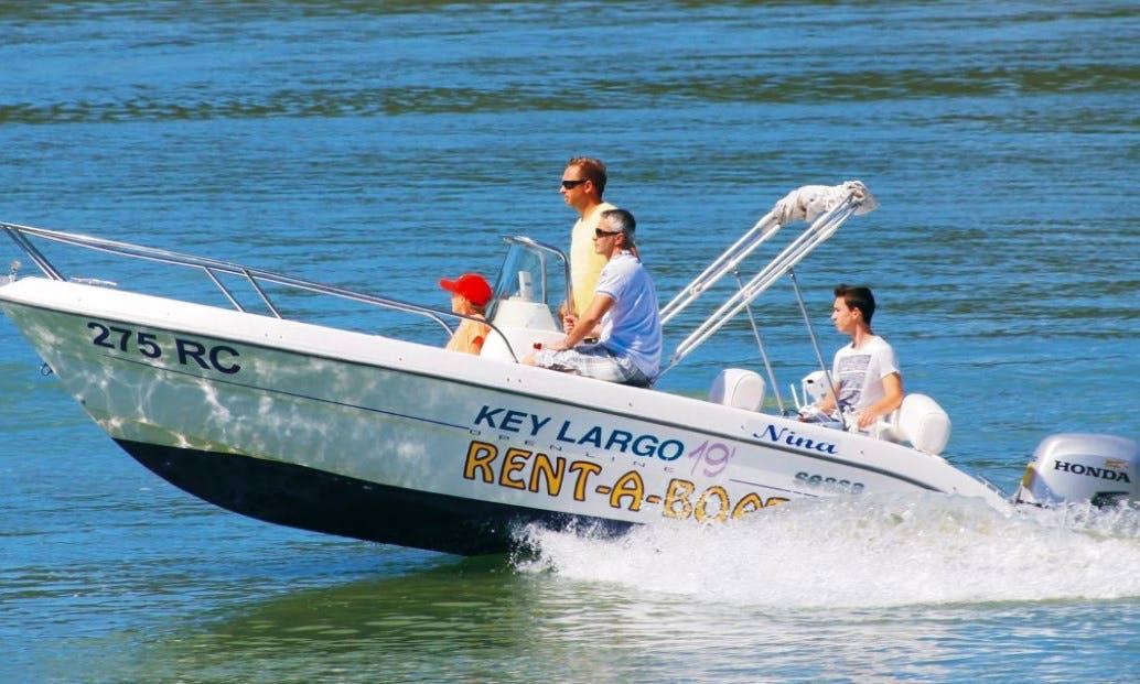 Rent the 19ft Sessa Key Largo Power Boat in Rabac, Croatia