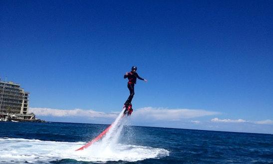 Enjoy Flyboarding In San Ġiljan, Malta