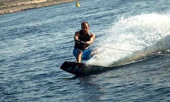 Enjoy Wakeboarding In San Ġiljan, Malta