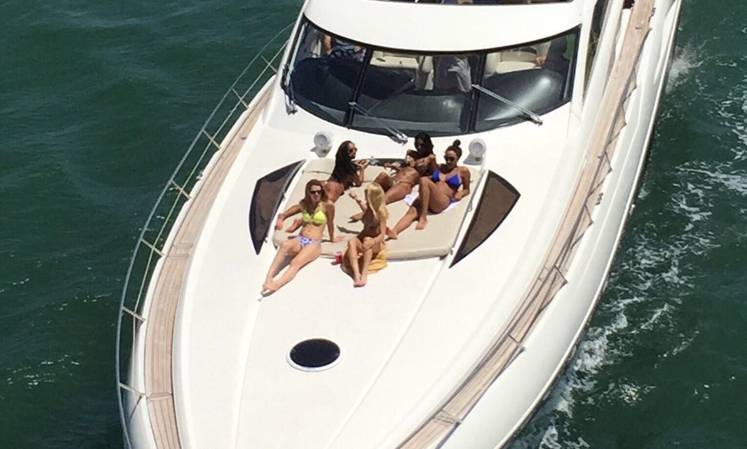 Captained Charter on 70' Exclusive Yacht in Miami Beach. Captain Included. 3 Bedrooms