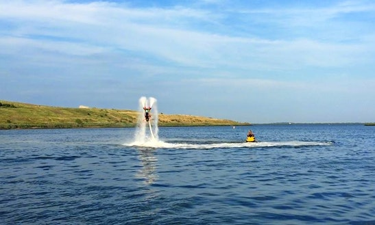 Flyboarding In Island Park, New York