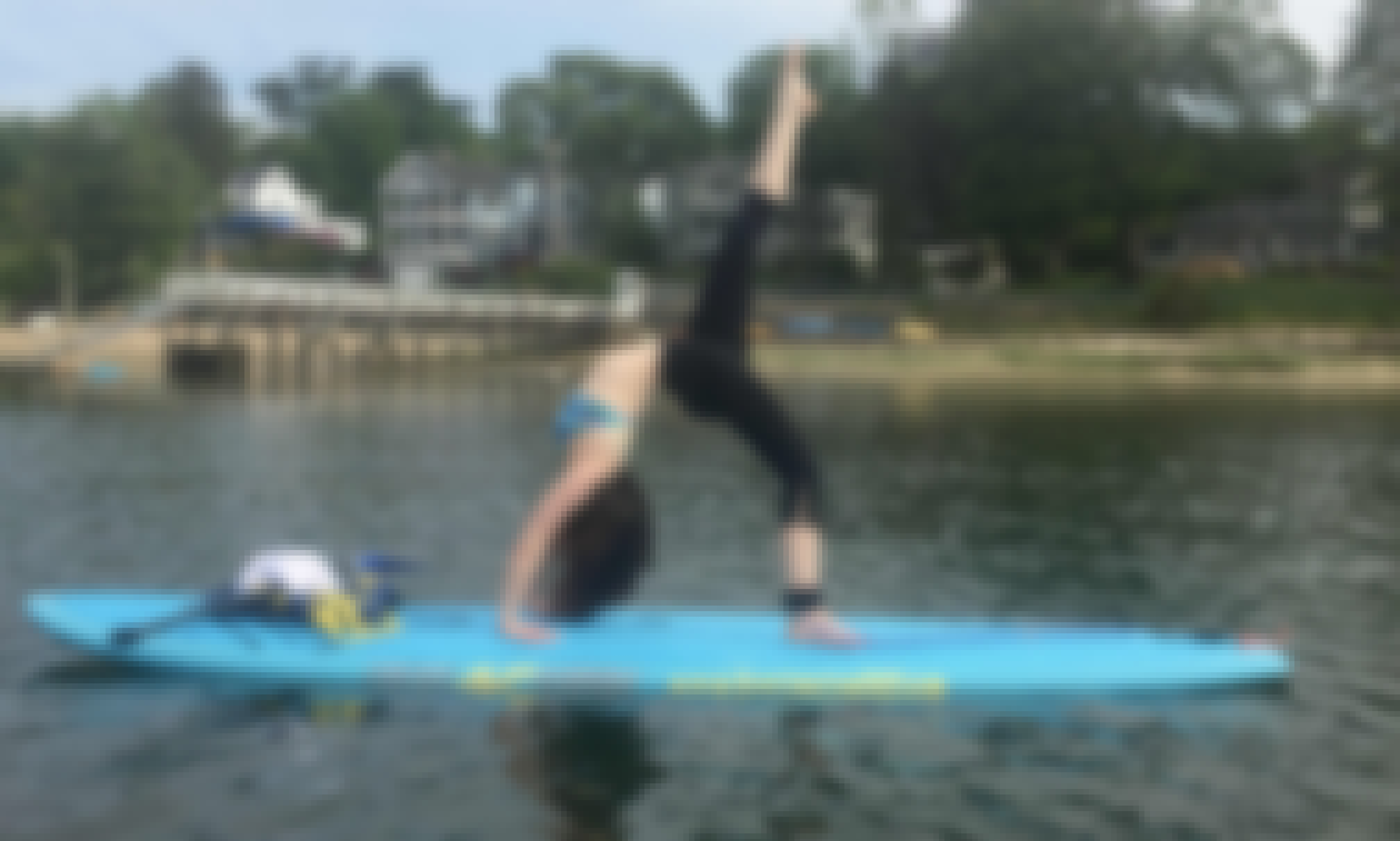 SUP Yoga Class with Basic SUP Instruction in Huntington, New York