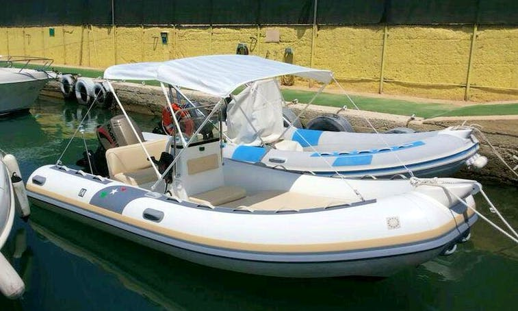 18' Inflatable Boat Rental In Gallipoli, Italy