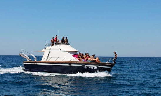 Charter 39' Posillipo Antigua Cuddy Cabin Boat In Gallipoli, Italy
