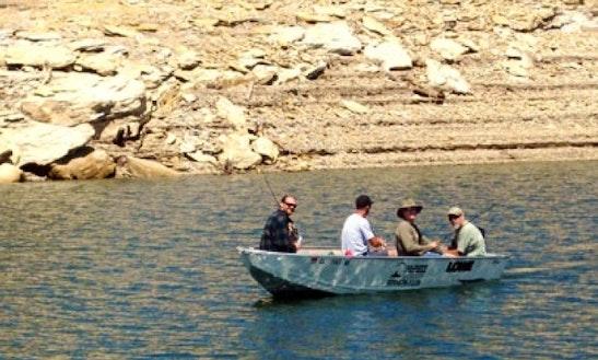 Enjoy Dolores, Colorado On 16' Tiller Aluminum Fishing Boat