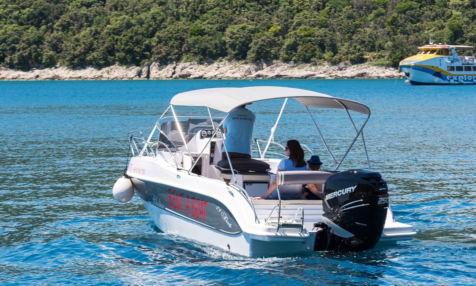 Motor Boat Rental in Rabac and Pula - Bluline 23