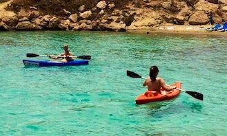 Rent a Single Sit on Top Kayak in Protaras, Cyprus