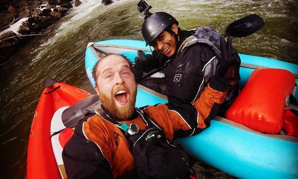 Inflatable Kayak Adventure in Skookumchuck, British Columbia
