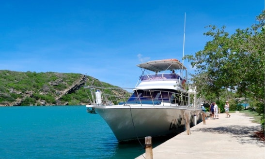 The 100% Island Adventure Boat Trip On 56' Motor Yacht In Willemstad, Curaçao