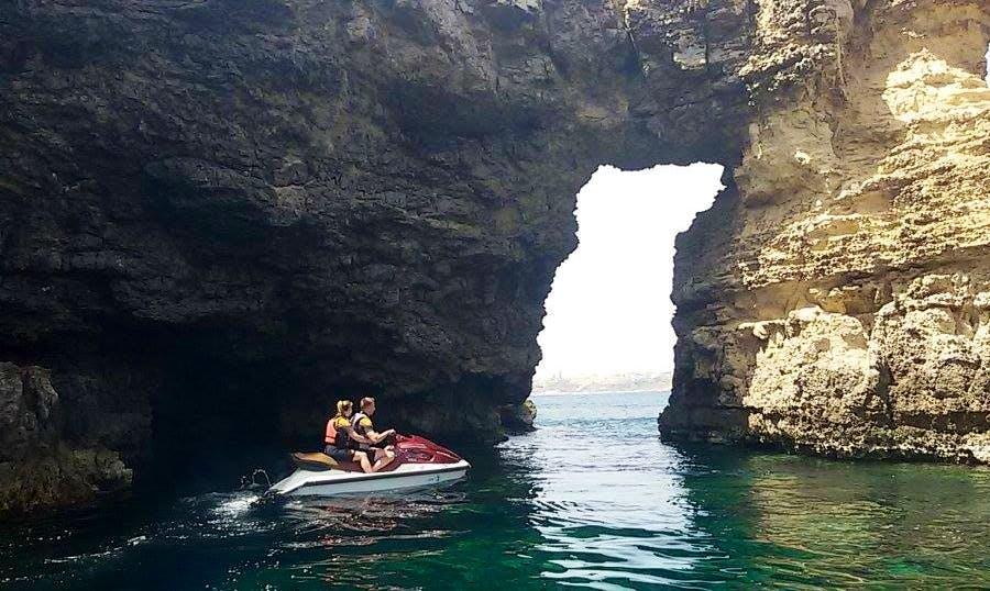 Explore The Coastline with a friend on a Jet Ski in Il-Mellieħa, Malta