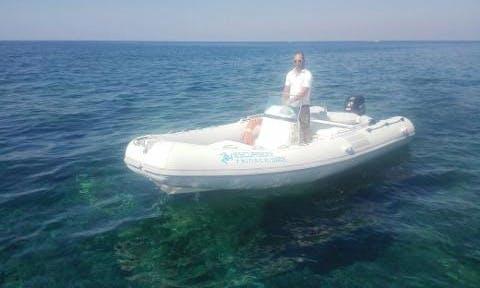 Rent Marshall M100 Rigid Inflatable Boat in San Vito Lo Capo, Sicilia