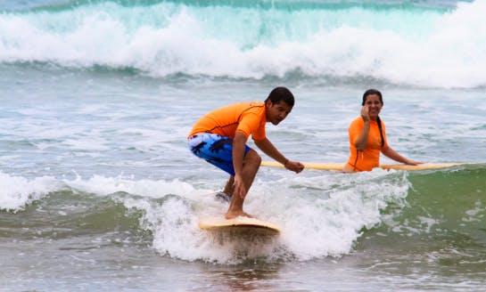 Surfing Lessons In Montanita, Ecuador
