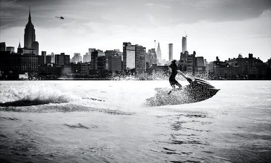 Jet Ski Tours On New York City Harbor