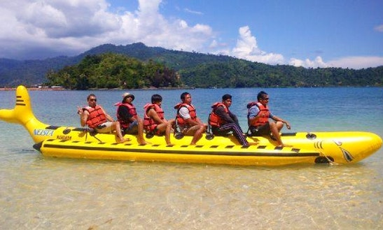 Enjoy Banana Boat Rides In Iv Jurai, Sumatera Barat, Indonesia