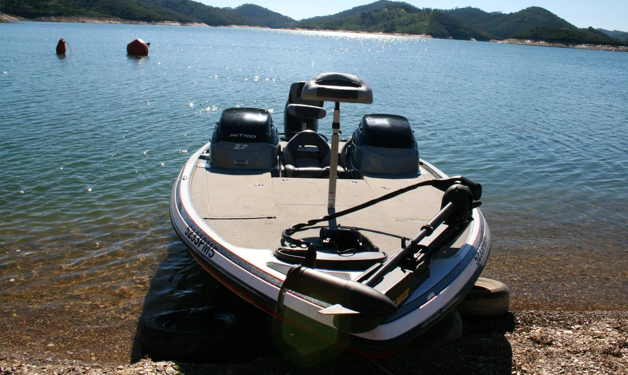 Enjoy Fishing in Vila Nova de Milfontes, Portugal on Bass Boat