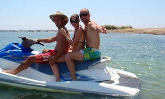 Riding around on a Jet Ski Rental in Yeroskipou, Cyprus