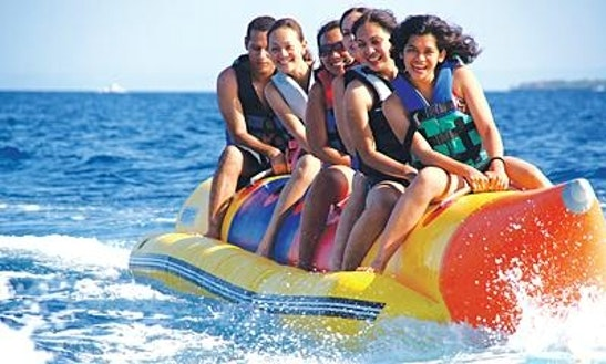 Enjoy Banana Boat Rides In Petrčane, Croatia