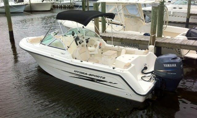 Enjoy Stuart on 21' Hydra Sport Dual Console Boat