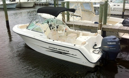 Enjoy Stuart On 21' Hydra Sport Dual Console Boat