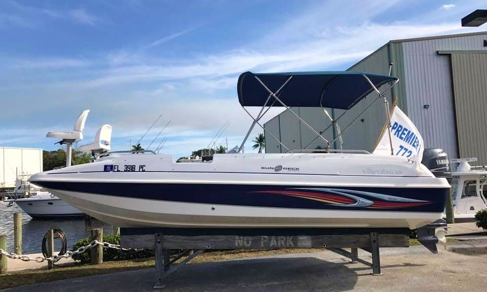 Rent this 20' Hurricane Sundeck Boat in Stuart, Florida