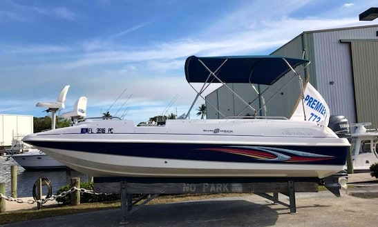 Rent This 20' Hurricane Sundeck Boat In Stuart, Florida