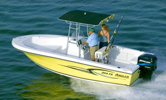 Rent The 21ft Angler Fx Center Console In Stuart, Florida