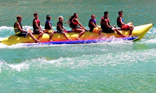 Enjoy Banana Boat Rides In Funtana, Croatia