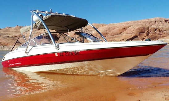 Rent The 20.5'  Bayliner Capri Boat From Page, Arizona