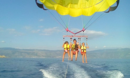 Enjoy Triple Parasailing In Baška, Croatia