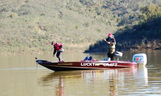 Bass Boat Fishing Charter for 3 Persons in Beja, Portugal