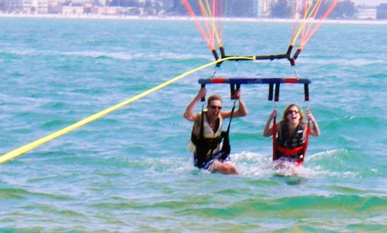Enjoy Double Parasail Ride In Pile, Larnaka